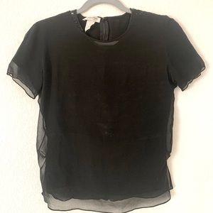 CALVIN KLEIN Silk Tshirt w Hidden Sequins